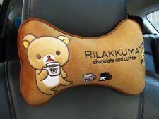 Rilakkuma Car Accessory #Brown : 1 piece Neck Rest Cushion Head Pillow