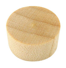 "100 Pcs - 3/8"" Birch Wood Screw Hole Plugs Flat Head Buttons - Platte River"