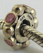 Authentisch Chamilia Pink Kugeln Sterlingsilber Schmuckstein Perle Anhänger