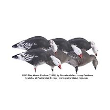 Full Body Blue Goose Feeder Decoys 6pk 71198 by Greenhead Gear GHG Prairiewind
