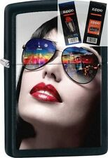 Zippo 29090 woman sunglasses Lighter with *FLINT & WICK GIFT SET*