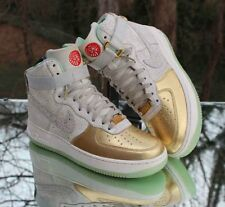 Nike Air Force 1 High Year of the Horse 649456-001 Gold Women's Size 8
