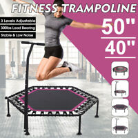 40/50 inch Silent Trampoline Rebounder With 3 Levels Adjustable Handle Bar Sport