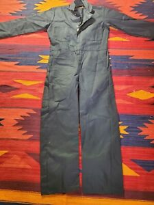 Red Kap Twill Action Back Coverall Chest Pockets Work Coveralls 36RG black