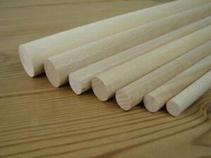 Rundstab Buche Ø 18,20,25,30,35,40,45,50 und 60mm x 1000mm Holzrundstäbe