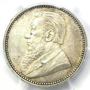 1892 South Africa Zar Sixpence (6D 6P) - PCGS MS62 (BU UNC) - Rare Date Coin!