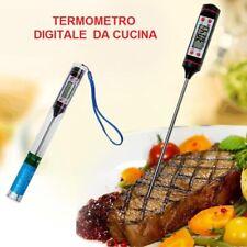 Termometro da Cucina Digitale per Alimenti Sonda Latte Carne Pesce Dolci Vino