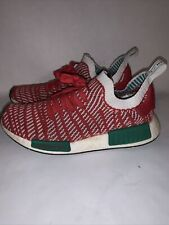 Red, White, Green Authentic-Adidas NMD_R1 Primeknit Christmas Sz 7.5.