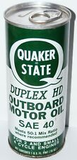 Vtg '60's Quaker State Outboard Motor Oil 2/4/small Cycle Engine Duplex HD Full