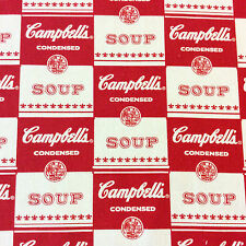 RPFMD314 Campbell's Soup Retro Andy Warhol Pop Art America Cotton Quilt Fabric