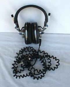 Vintage Pioneer Monitor 10 Stereo Headphones Tested Working Very Nice