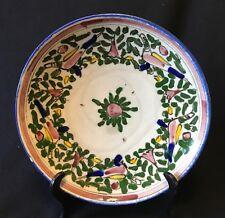 Iran plat aux oiseaux goût Iznik ou Kuthaya pâte siliceuse  XIXe siècle  Perse