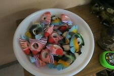Lot of 36 Kemp & Beatley Napkin Rings Hand Painted Carved Wood Fish Mexican