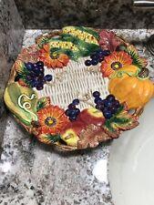 New Fitz & Floyd Autumn Bounty 10� Canape Plate