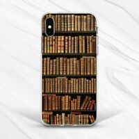 Vintage Books Retro Library Shelf Case For iPhone 7 8 Xs XR 11 Pro Plus Max