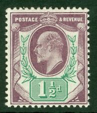 Sg 224 spec M9(2) 1½d slate purple & blue green. Fine unmounted mint