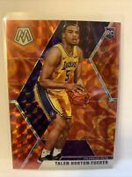 TALEN HORTON-TUCKER 2019-20 MOSAIC ORANGE REACTIVE PRIZM RC #215 Lakers