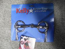 "NEW KELLY SILVER STAR 5"" SMALL HALF CHEEK SNAFFLE CP DRIVING  BIT"