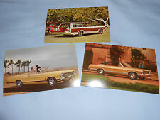 ORIGINAL 1967 FORD 500XL, LTD, COUNTRY SQUIRE POSTCARDS, 67 BROCHURE, 3 for 1