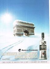 PUBLICITE ADVERTISING 054  2007   RUSSIAN STANDARD   la grande vodka russe