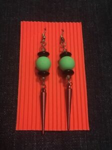 Silicone and Glass Spike Earrings