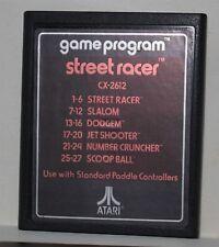 Street Racer CX-2612 Atari Text Version Cartridge Slalom Dodgem Jet Shooter