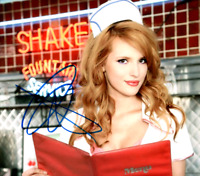 Bella Thorne signed 8 X 10 photo she is on the menu very Sexy Red Head w/COA