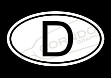 Deutschland VINYL STICKER DECAL VW VOLKSWAGEN GTI GLI BEETLE BUG BUS GERMANY