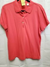 LADY HATHAWAY Womens Size XL Coral Pink Golf Polo Shirt Top Blouse