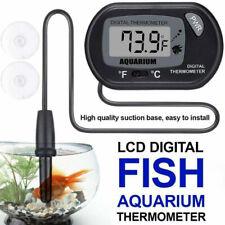 1Pcs Lcd Digital Fish Tank Reptile Aquarium Water Meter Thermometer TemperatuJb