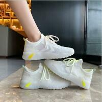 White Womens Athletic Running Jogging Shoes Casual Walking Sneakers Sports Shoes