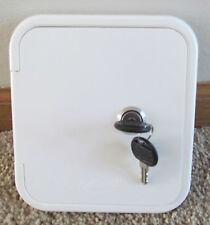 Universal Valterra White Gravity Water Hatch Fill Dish Lock Keys RV Trailer