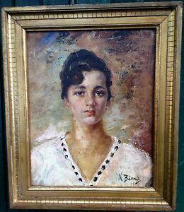 Gorgeous, BIONDI Nicola (1866-1929), Italian painter, Oil on cardboard.