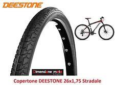 "Copertone Deestone 26x1 75 D1006 Nero stradale per bici 26"" MTB Mountain Bike"