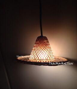 Lamp Shade Wood Woven Hang Lantern Light Room Dinning Bar Spa Home Decor DIY