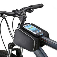 CYCLING BIKE BICYCLE MOBILE PHONE BAG PANNIER CASE HOLDER POUCH FRAME TUBE BAR