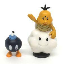 Nintendo Super Mario Bros. ~LAKITU + BOB-OMB ~PVC Figures Cake Topper Loose 2007