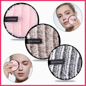 Microfiber BIG Makeup Removal Puff Face Eraser Cleansing Sponges Washable Puffs