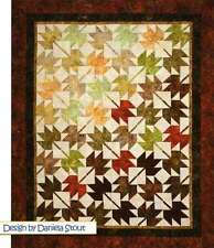 FALL, LEAVES, FALL QUILTING PATTERN, Fat Quarter Anonymous By Cozy Quilt Designs