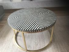 Sold Out. Pre Order Only. Brand New. Stunning Bone Inlay Coffee Table.