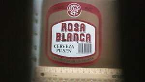 OLD SPANISH BEER LABEL, ETIQUETA DE CERVEZA, BALEAR PALMA DE MALLORCA, ROSA 2