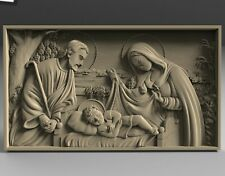 STL 3D Models # CHRISTMAS OF JESUS # for CNC 3d Printer Engraver Carving Aspire
