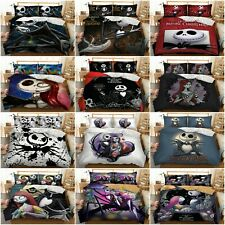 The Nightmare Before Christmas Duvet/Doona Quilt Cover Set Queen King Pillowcase