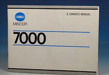 Minolta 7000 owner's manual manuale di istruzioni in lingua inglese - (101309)