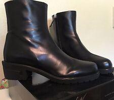 New Giuseppe Zanotti 39 Kurt 40 Black Military Zip Ankle Boots Fall Winter Block