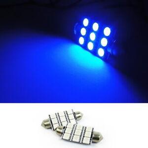 2x 9 SMD LED 578 211-2 212-2 For VOLVO Interior Dome Light Blue Festoon