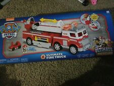 PAW Patrol Ultimate Rescue Fire Truck with Extendable 2 Foot Tall Ladder