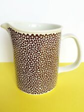 VERY RARE > ARABIA FINLAND BROWN FAENZA PITCHER