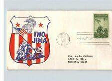 IWO JIMA, Marines Raise Flag on Mt. Suribachi in World War II # 909 First Day of