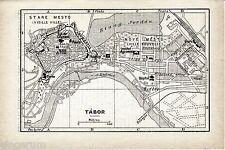 Tábor 1937 kl. Stadtplan + frz. Reisef. (3 S.) Eglise Doyenne Tour Porte CZ